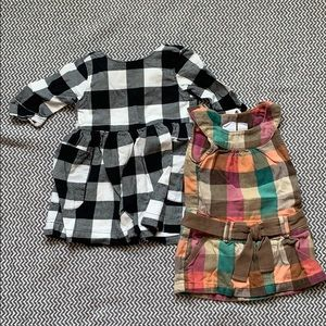 12mo plaid dresses
